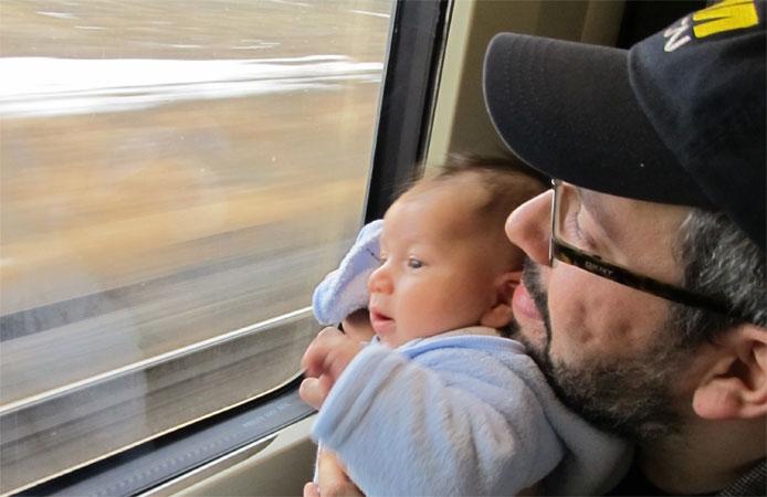 Kids on the train