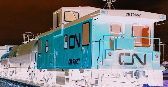 CN abandoned caboose