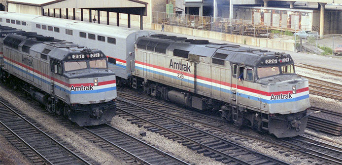 Amtrak F40PH Phase 1 and Phase 2