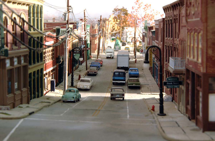 Commerce Street on Fred Lagno's layout