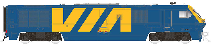 Rapido Trains LRC - VIA 6922 blue