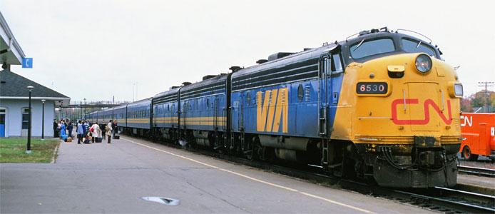 VIA CN F9B Locomotives