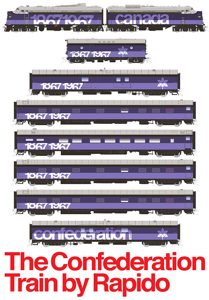 Rapido Confederation Train Artwork