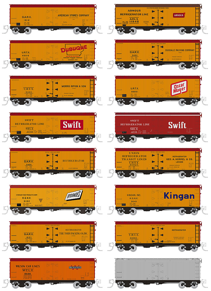 Rapido Meat Reefers N Scale