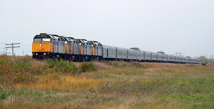 Four VIA Locomotives lead The Canadian