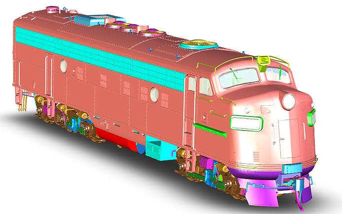Rapido FL9 Locomotive