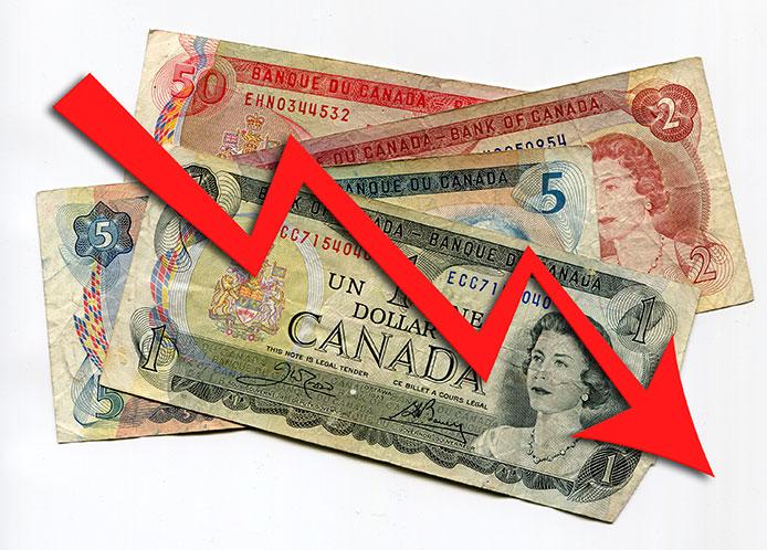Sinking Canadian Dollar