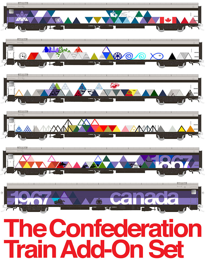 Rapido Confederation Train Add-On Set