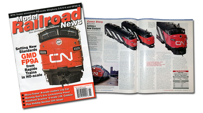 Model Railroad News cover feature