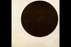 Russian artist Kazimir Malevich's 1915 painting, Black Circle.