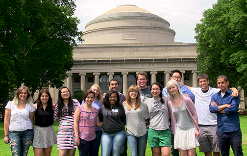 2014 CMSE/MPC Interns are, back row, from left, Karen Diaz Toledo, Sarah M. Arveson, Jessica Ma, Catherine Groschner, Rahul S. Kini, Kevin Romero, John Lee, Eric Bailey, Gabriel Denham, and front row from left, Naomi Morales Medina, Kayla Robinson, Meredith Fields, Julia Zhao and Alyssa Johnson. The Summer Scholars program runs June 9-Aug. 10, 2014.