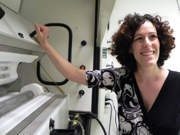 MIT postdoctoral associate Noa Lachman at carbon nanotube oven.