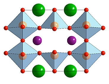 A diagram of the molecular structure of double perovskite. Photo - Illustration courtesy of the researchers.