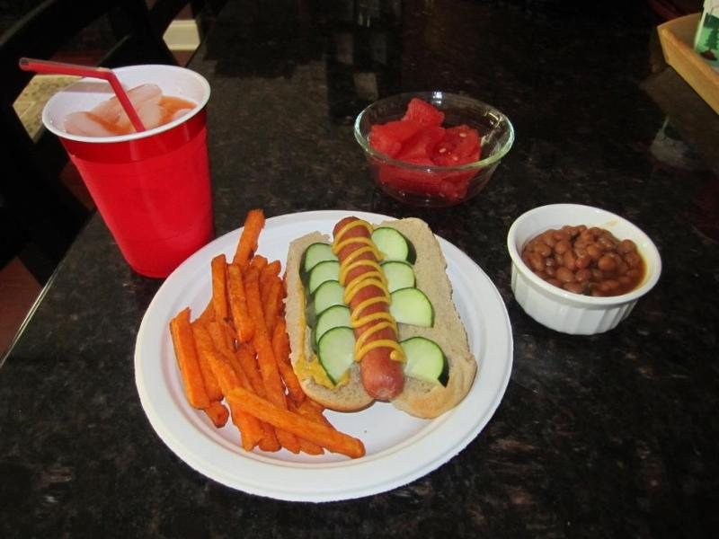 Healthier Hot Dog Meal