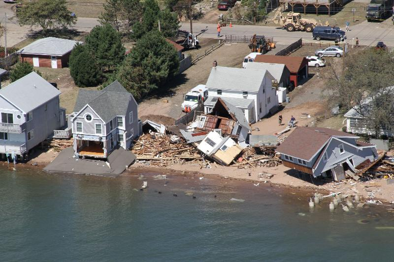 Significant Damage at Cosey Beach, East Haven