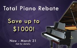 Yamaha Piano Rebate