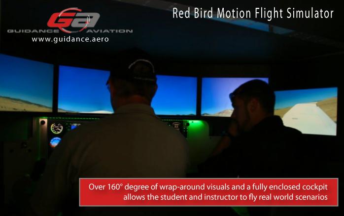 Red Bird Motion Flight Simulator at Guidance Aviation