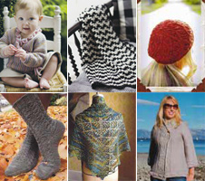Knit and Crochet Pattern Collage