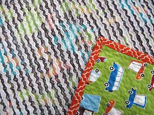 Chenille Blanket Detail