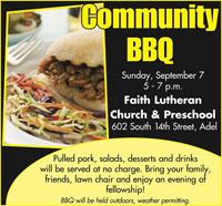 Faith Lutheran BBQ - Adel Iowa