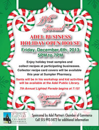 Adel Holiday Open House
