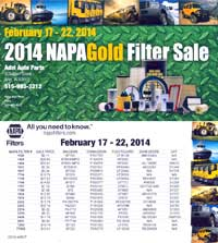 NAPA Oil Filter Sale