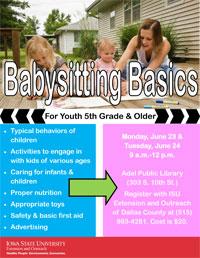 ISU Baby Siters Basics - Adel Iowa