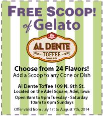 Al Dente Toffe Coupon July 2014