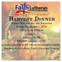 Harvest Dinner Adel Iowa