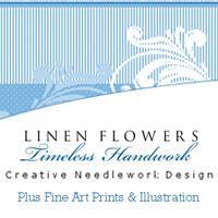 Linen Flowers-Timeless-Handwork Adel Iowa