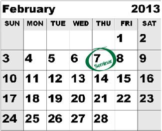 Calendar February MN Seminar