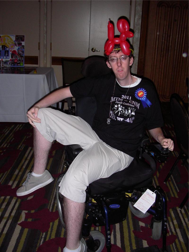 Mitchell funny balloon hat 2011