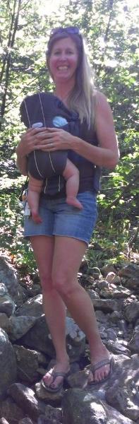 Erin & Aiden hiking Neffs