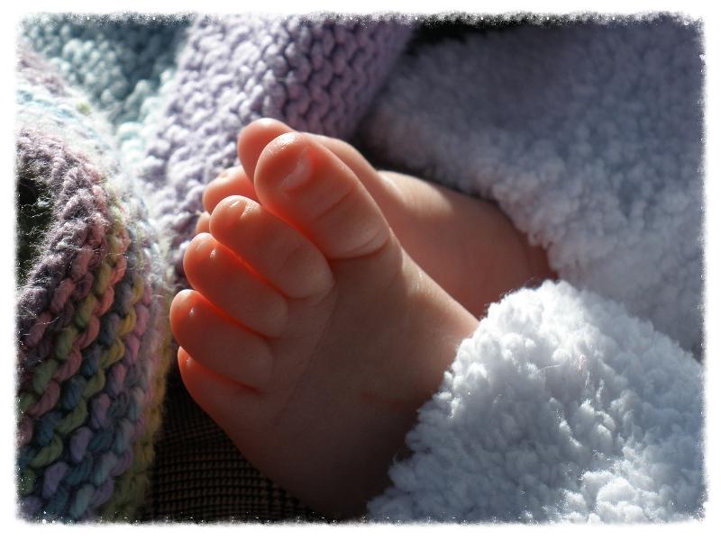 Ava's precious feet