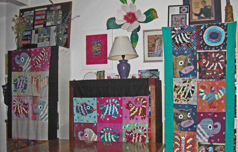 Fabric Shelves with Curtain