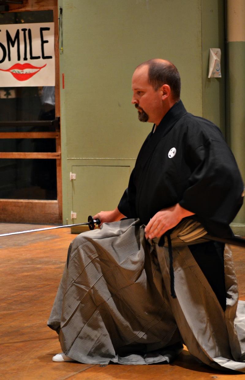 Mike Ross at the Iaido Demonstration on 10-11-11