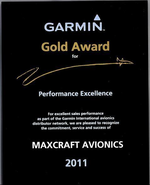 Garmin Avionics Award