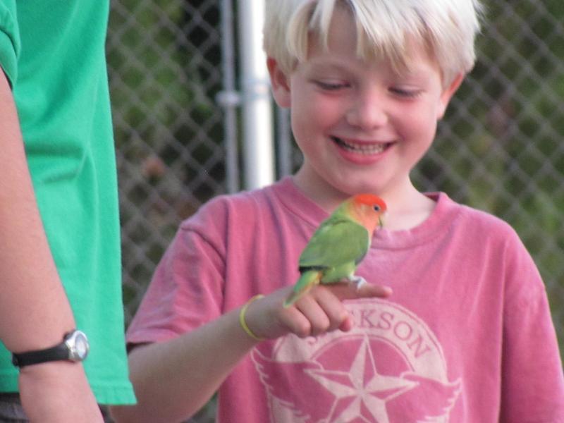 movie night- Ben with bird
