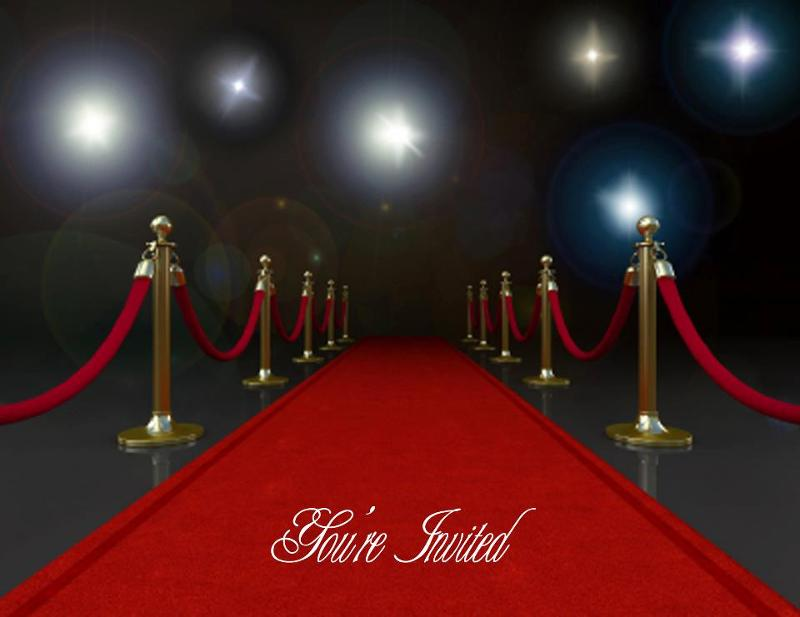 Hollywood Invitation Template for nice invitation example