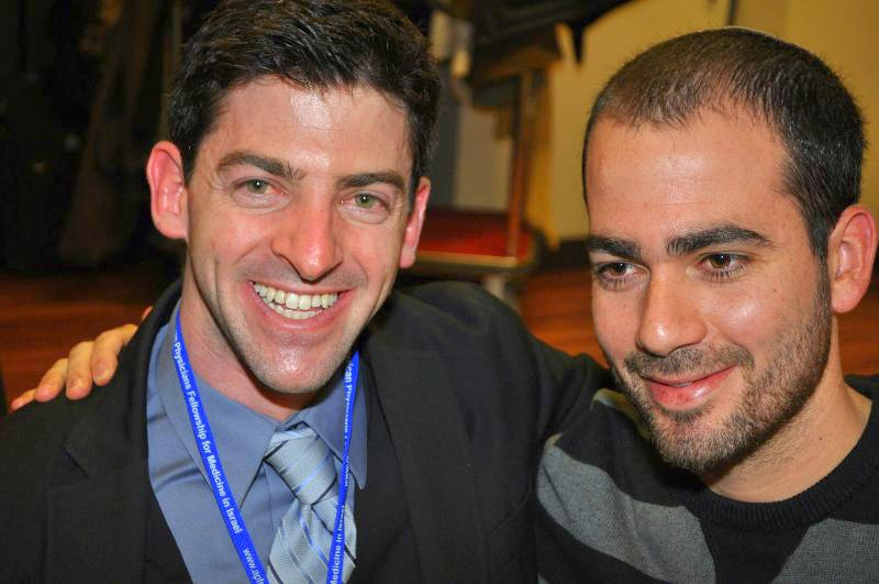 Amir Goldshtein, APF's Development Specialist and Lt. (reserve) Asael Lubotzky, M.D.
