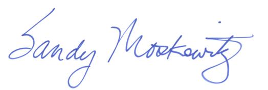 Sandy's signature
