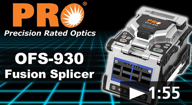 OFS-930 Core Alignment Fusion Splicer Video