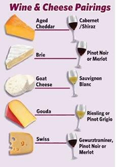 Wine & cheese infograph