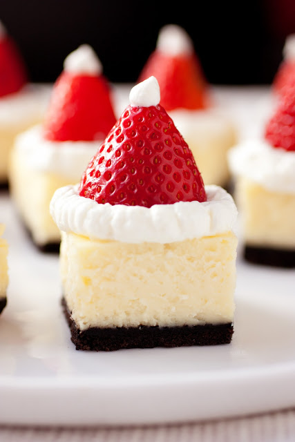 Santa Hat Cheesecakes