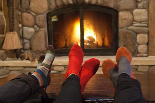 Socks Fireplace