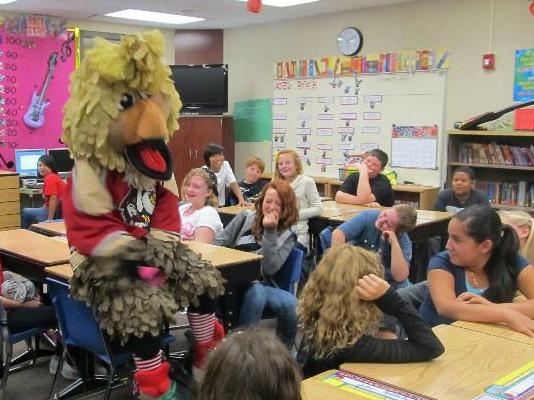 Cal in Classroom