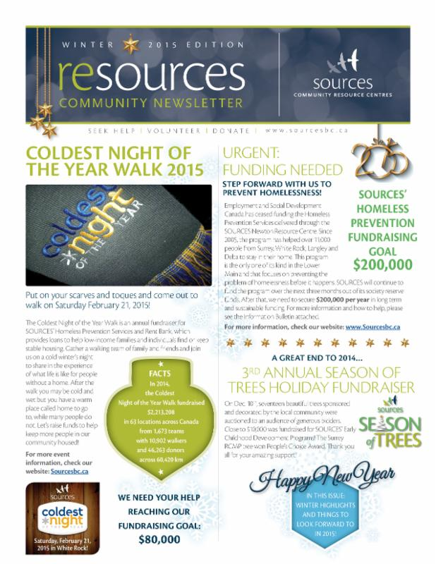 Sources Newsletter Winter 2015 Edition