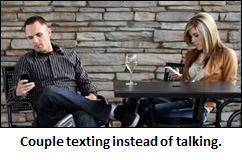 Texting while dating