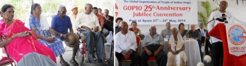 ome of the Legacy Generation Residents of Trinidad & Tobago with dignitaries and GOPIO officials