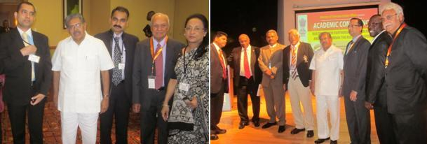 Minister Ravi with Speakers of T&T Business Forum & Diaspora Conf. May 2011